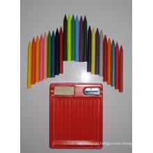 24 Colors Trigonal Erasable Crayons (7002)