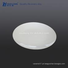 11 inche branco redondo relevo china china cerâmica prato