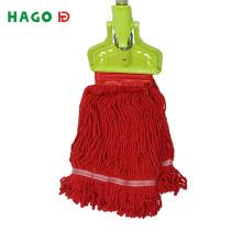 Cabezal de mopa limpio reemplazable de hilo de algodón reciclado