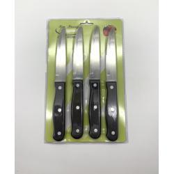 4pcs bakelite handle jumbo steak knife card set