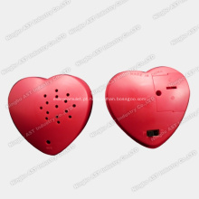 Gravador de voz da forma do coração, colar de coração gravável