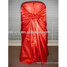 Satin fabric chair cover,red satin bag chair cover, chair cover sash,hotel chair cover