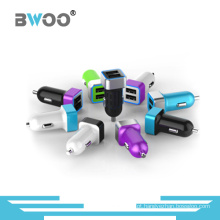 Carregador de telefone celular Mix Color Dual USB para carro