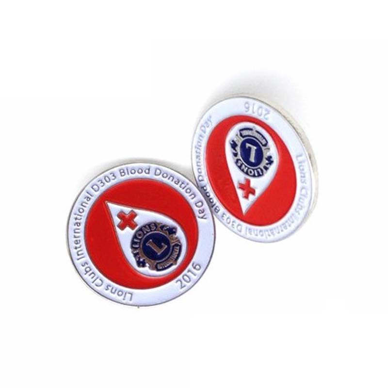 High Quality Blood Donation Metal Lapel Pin