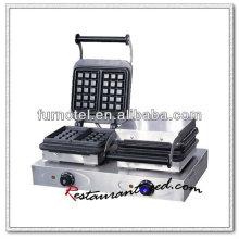 K321 2 Головки Верхней Части Таблицы Нержавеющей Стали Электрический Вафельный Бейкер