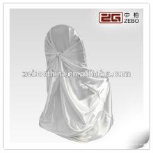 Vente chaude de différentes couleurs disponibles en gros coutures en satin blanc chaises