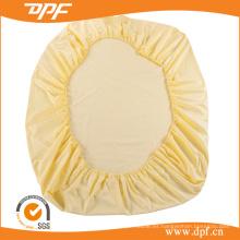 Elástico cabido hoja con algodón egipcio de alta calidad (DPF201511)