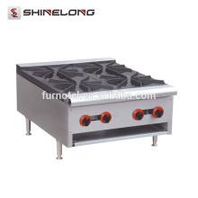 Kommerzielle Hotel-Küche China-Küche, die 4 Brenner-Tischplatte-Gaskocher-Ofen erhitzt