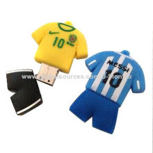 Rubber Man T-shirt Shape USB Flash Drive with Free Logo, Capacity from 1GB-64GB, Suit for Gift Order