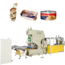carne enlatada redonda e maquinário para fabricação de latas retangulares