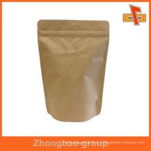 Resistente a la humedad a prueba de humo bolsa de alimentos resellable con cierre de cremallera