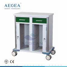 AG-GS010 CE ISO dunkelgrün mobile Krankenhauswagen Patientenakte Warenkorb