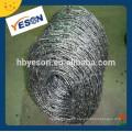 Anti-vol de fil de fer barbelé / pvc recouvert de fil de fer barbelé