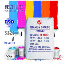 Superior Weatherability and Chalk Resistance Rutile Titanium Dioxide R909 (factory price)