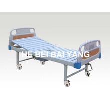 (A-194) Movable Single Function Manual Hospital Bed with Chamber Pot and ABS Bed Head