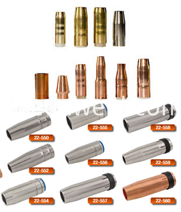Tweco Copper 22-50 Gas Nozzle
