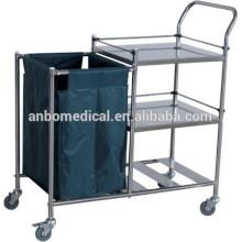 Chariot / pansement pour soins médicaux en acier inoxydable