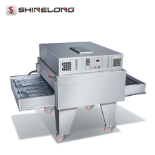 Precio comercial del horno de la pizza del transportador eléctrico / del gas del acero inoxidable de Guangzhou