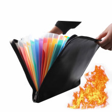 Waterproof and Fireproof Money Bag document Fire Resistant Safe Storage organizer Pouch with Zipper