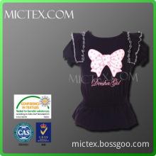 cotton Sports t shirt and pants girls stylish suit OEM OEKO-TEX