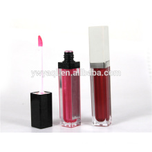 Excellent quality low price manufactured cosmetic long lasting lip gloss with brush