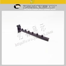 black color slat wall square pipe display hook