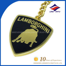 Wholesale Best Design High Quality Gold Metal Cow Embossed Keychain