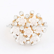 Best selling rhinestone ring adjustable fashion rings
