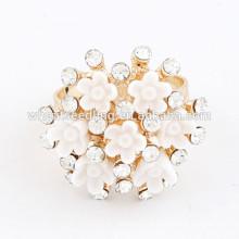 Anéis de moda ajustável anel rhinestone mais vendido