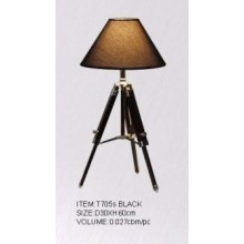 Contemporary Hotel Table Lamps with Wood Base (T705S black)