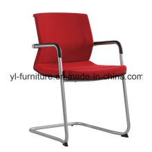 Cadeira ergonômica de escritório em couro com descanso para pés