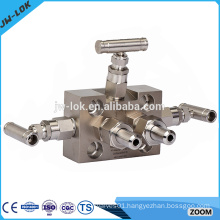 Stainless Steel 6000psig 3 way manifold valves