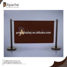 Folding Type Fabric Coffee Barrier Outdoor Display