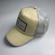 Novo Design palha Patch Trucker Cap