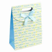 Eco-friendly Paper Gift Bag, Customized Prints Accepted, Eco-friendly, Delicate Design
