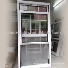 Ventana de guillotina corredera con doble ventana americana con marco de aluminio de corte térmico