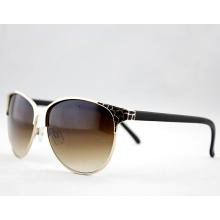 Gafas de sol elegantes del metal de la manera de la alta calidad para las mujeres (14127)