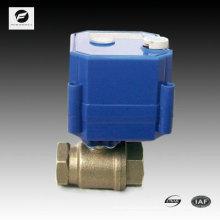 Válvula accionada motorizada de 2 vías con anulación manual para máquina suavizadora