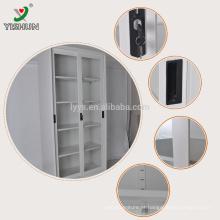 A estrutura de KD manufatura o armário deslizante do sotrage da porta de vidro