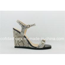 Sexy Design Wedge Talon Femme Sandale de mode
