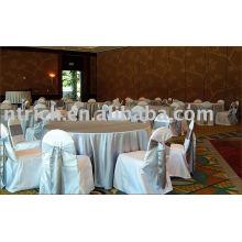 100% poliéster cadeira capas, capas de cadeira para hotel/banquetes, cadeira sashes