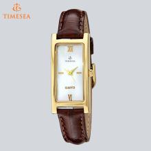 Quadrado em forma de liga clássico quartzo relógio de pulso para senhoras 71268