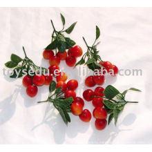 Искусственные пластиковые фруктовые вишневые игрушки