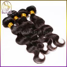 en el extranjero acepte la orden de la muestra el cabello humano de la onda del cuerpo 100% del pelo humano en China