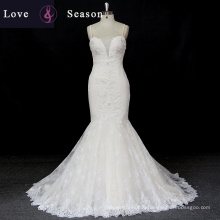 XW6690 spaghetti strap sweetheart luxury mermaid spaghetti strip wedding dresss