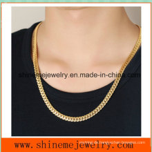 Geprägte Accessoires Großhandel Edelstahl Full-Size Golden Dragon Herren Halskette (SSNL2624)