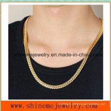 Accessoires en relief Vente en gros en acier inoxydable Collier en cuir de Golden Dragon en taille réelle (SSNL2624)
