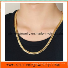 Embossed Accessories Wholesale Stainless Steel Full-Size Golden Dragon Men′s Necklace (SSNL2624)