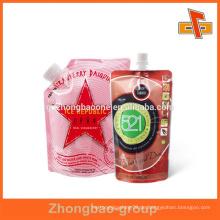 Vivid Druck Heißsiegel Flüssigkeit Verpackung Kunststoff Tasche für Getränke