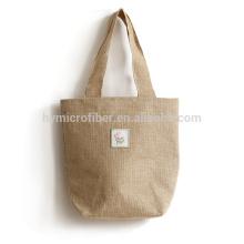 Feiner Preis maßgeschneiderte langlebige tragbare Jute-Einkaufstasche